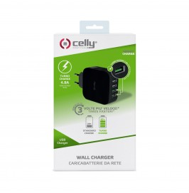Ładowarka sieciowa Celly Travel Charger Turbo 4 Usb 4.8A