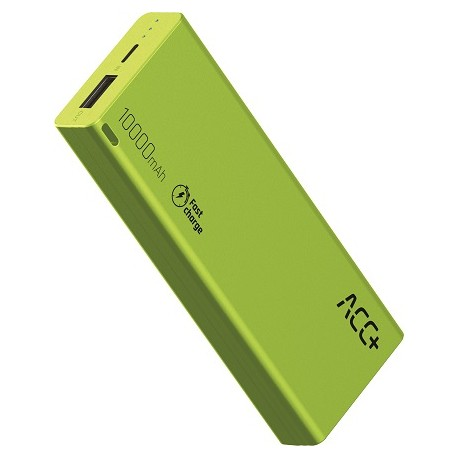 Power Bank ACC+ THIN 10000 mAh z systemem Fast Charge Zielony