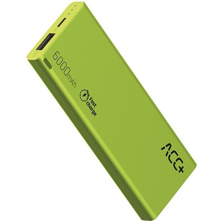 Power Bank ACC+ THIN 6000 mAh z systemem Fast Charge Zielony