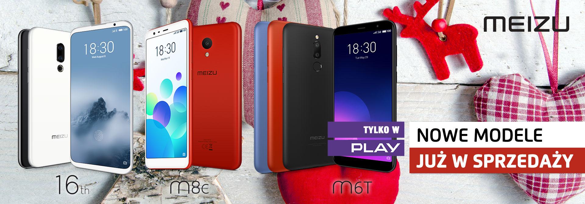 Nowe telefony Meizu - 16th, M6T, M8c