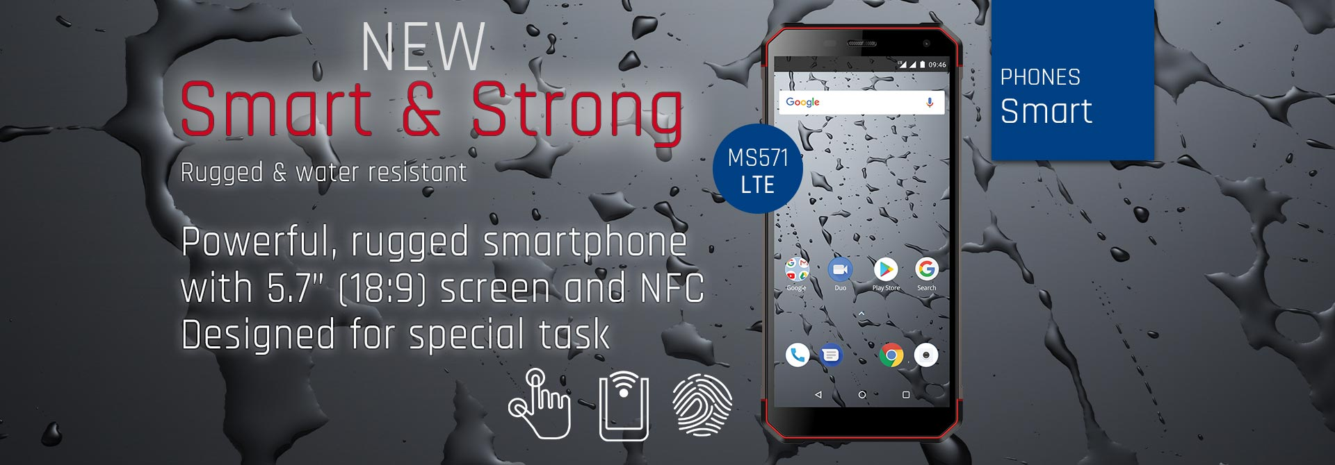 New smartphone Smart & Strong MS571 LTE